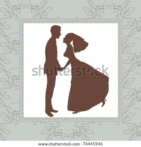 stock vector Vector Illustration of retro wedding invitation with funny