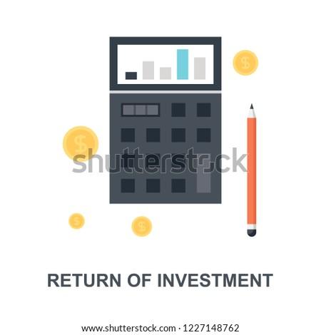Vector illustration of return of investment flat design concept.