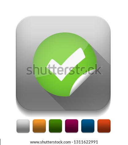 "Vector illustration of right check mark - check mark sign ""yes or ok"" checkbox icon. tick icon"