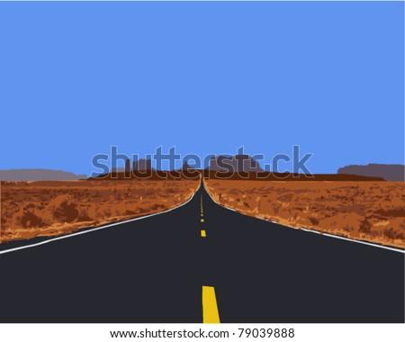 vector illustration of road