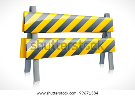 vector illustration of road barrier against white background
