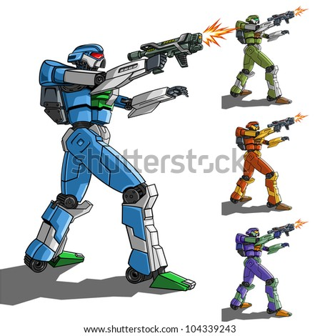 vector illustration of robot