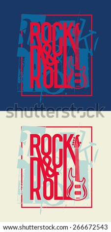 vector illustration of rock is