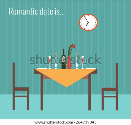 vector illustration of romantic