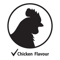 Vector illustration of rooster flat icon