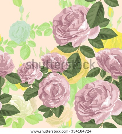 vector illustration of rose