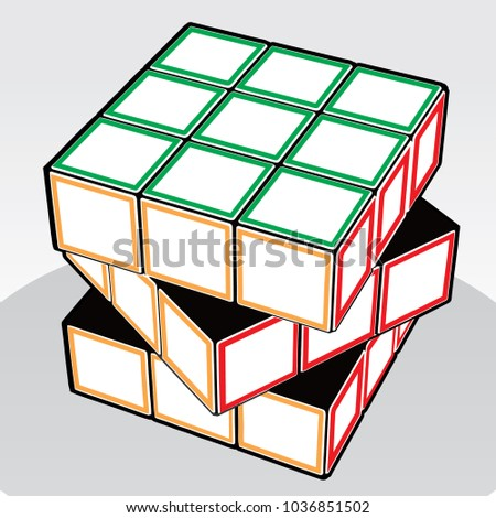 vector illustration of rubik's