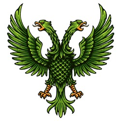 Vector Illustration Of Russia Eagle Coat Of Arms