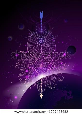 vector illustration of sacred