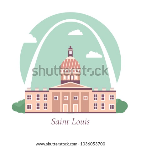 vector illustration of saint
