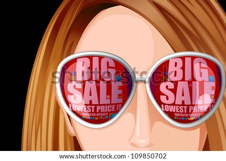 vector illustration of sale