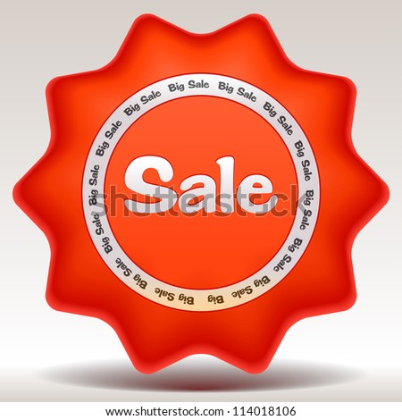 Vector illustration of sale sticker