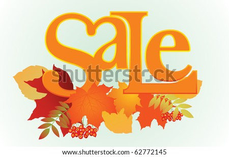 "Vector illustration of ""Sale"" word for sales promotion."