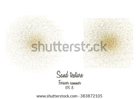 vector illustration of sand