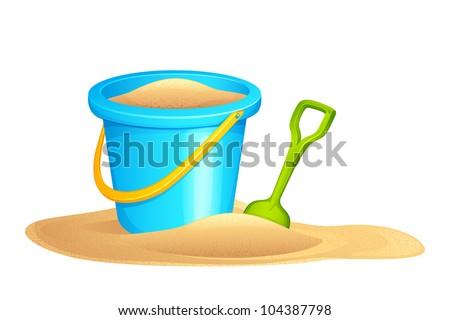 vector illustration of sandpit