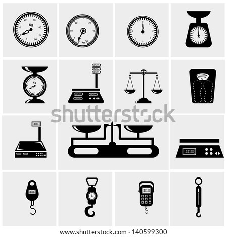 Vector illustration of scales. weighing machine