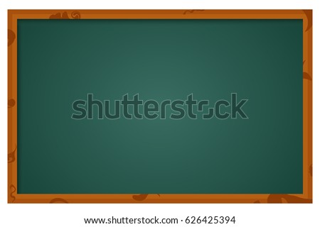 Vector illustration of school blackboard