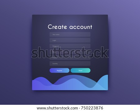 Vector Illustration of screens and web concept. Interface UX, UI GUI screen template for web site banners. Create account