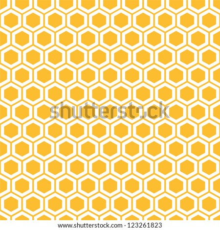 Stock Photo Vector illustration of seamless geometric pattern with honeycombs