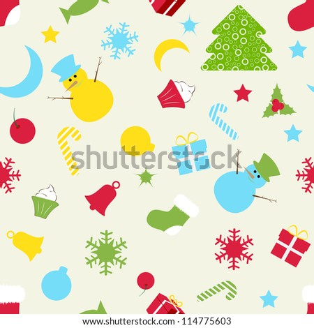 vector illustration of seamless pattern for Christmas