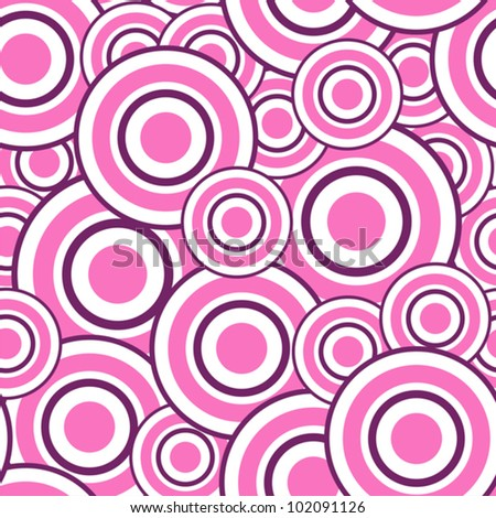 Vector illustration of seamless pattern with circles