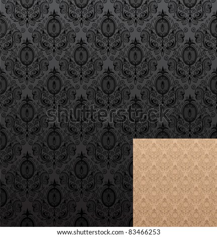 Vector illustration of seamless wallpaper patterns