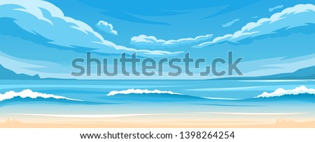 vector illustration of seascape
