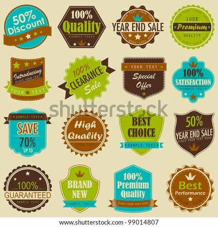 vector illustration of selling badge for branding and Premium Quality promotion