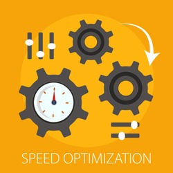 Vector illustration of seo - search engine with