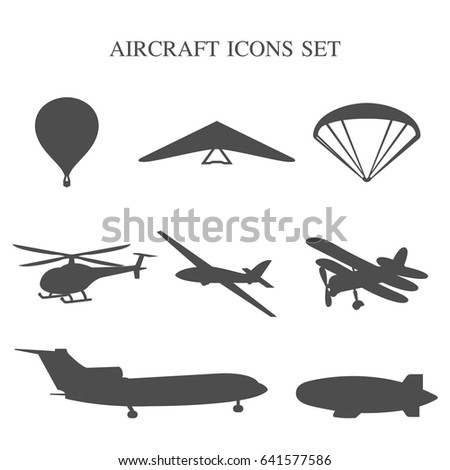 stock-vector-vector-illustration-of-set-of-airplanes-silhouettes