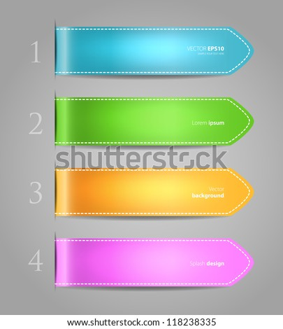 Vector illustration of Set of color stickers - stock vector