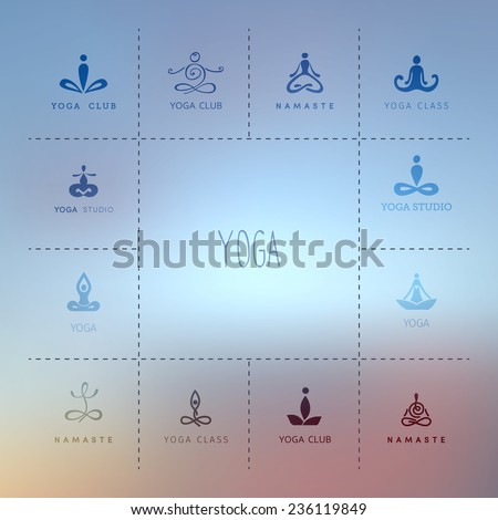 vector illustration of set of