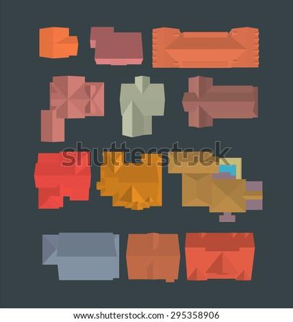 vector illustration of set of
