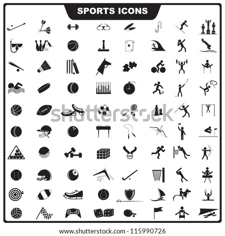 vector illustration of set of sport icon against isolated background
