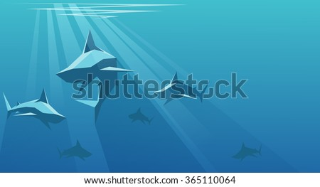 vector illustration of shark