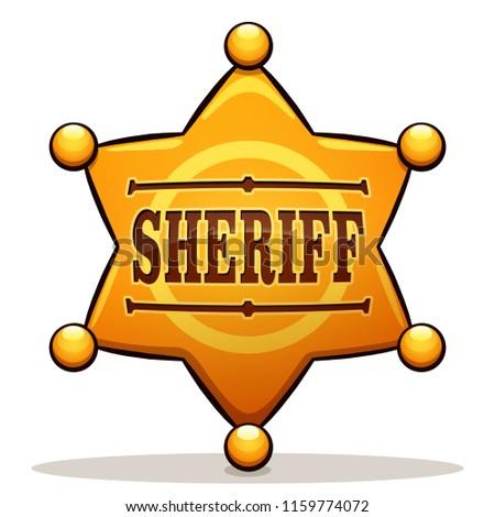 Vector illustration of sheriff badge color design