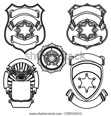 Vector illustration of sheriff badges