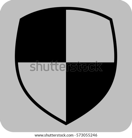 vector illustration of shield