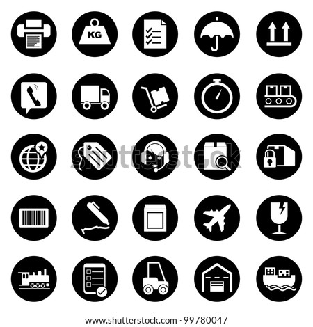 Vector illustration of shipping icons.