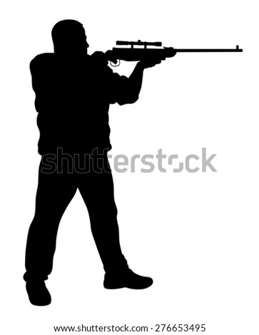 vector illustration of shooter