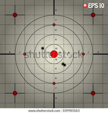 vector illustration of shooting target with vignette