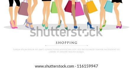 vector illustration of shopping