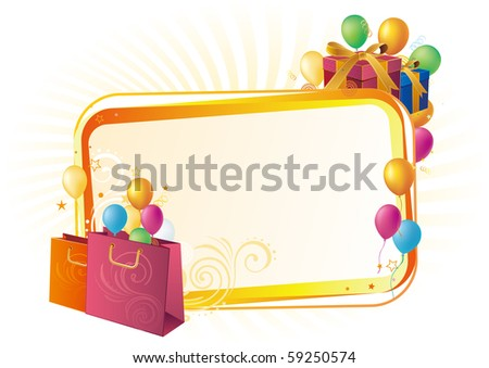 vector illustration of shopping sale banners