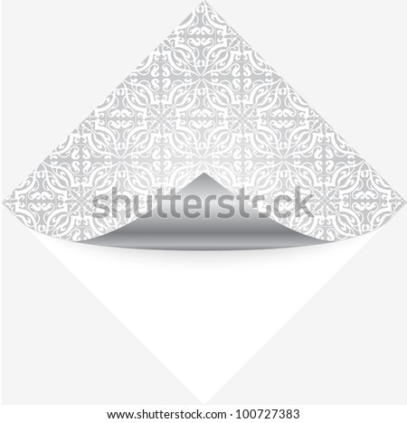 Vector illustration of silver note paper