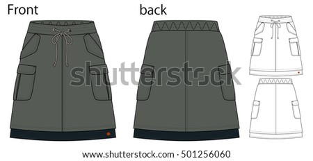 vector illustration of skirt