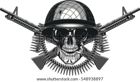vector illustration of skull in