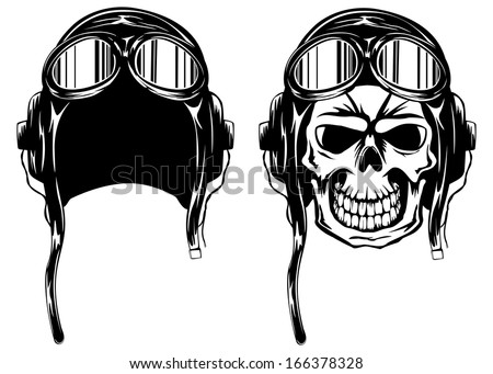 vector illustration of skull of