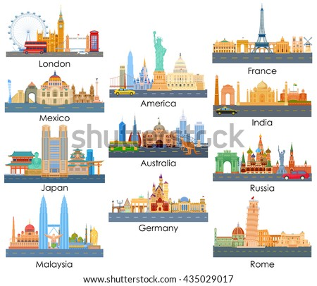 vector illustration of skyline