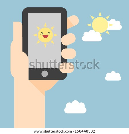 Vector illustration of smart phone.