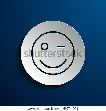 vector illustration of smiley
